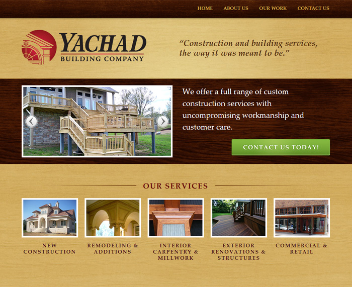 Yachad Building Co. home page